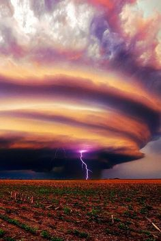 Photos of Storm clouds, lightning, tornadoes,  hurricanes,  etc.,...  can be very beautiful.. & scary, .. !