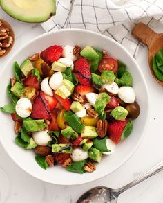 Avocado Caprese Salad (Because!) | A Cup of Jo