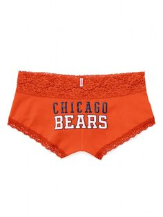 Show your team spirit in the Lace-trim Boyshort Panty from Victoria's Secret PINK. The comfort you crave in a fun, flirty low-rise silhouette. It's a lace-trim panty from the Victoria's Secret PINK® NFL Collection. Coaching, Bear Wedding, Sporty Hairstyles, Bears Football, Chicago Bears, Sportswear, Cute Outfits, Training, Fashion Outfits