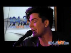 """Adam Lambert stopped by the MYstage @ 104.3 MYFM in Los Angeles to give an exclusive performance of """"Trespassing""""....The title track from his new album 'Trespassing' that comes out May 15th."""