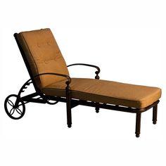 paradise cove designs balboa aluminum outdoor chaise lounge with optional cushion