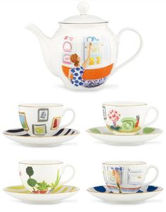Kate Spade - Tabletop Collection    I love tea, and this teapot with matching cups is adorable.