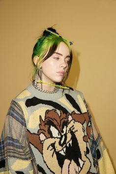 Billie Eilish photographed by Kenneth Cappello for.: BILLIE EILISH January 28 2020 at fashion-inspo Billie Eilish, Black And White Picture, Diana, Fashion Quotes, Fashion Fashion, Fashion Ideas, Fashion Women, Fashion Tips, Green Hair