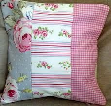 Image result for shabby chic patchwork cushion covers