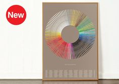 The Colour of Books is the newest addition to our Colour Wheel range and is a beautiful stylised fan depicting the spines of 300 books that mention a colour in their title. The printincludes literary classics such as: David Copperfield (Charles Dickens), Black Beauty (Anna Sewell), The Sca...