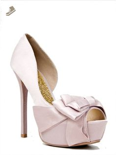 8a84dcca3ce0 Qupid Matte Satin Over Sized Bow on Peep Toe Pumps Qumiriam-79 Royal Blue  or Nude (10