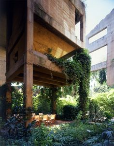 An abandoned cement factory that dates from the first period of the industrialization of Barcelona was transformed into a workspace and residence for Spanish Architect Ricardo Bofill. Discover the unique elements of The Cement Factory now @ Yatzer! Landscape Architecture, Interior Architecture, Landscape Design, Barcelona Architecture, Industrial Architecture, Beautiful Architecture, Design Exterior, Interior And Exterior, Interior Garden
