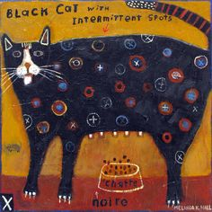My kind of cat  think this is by melinda hall