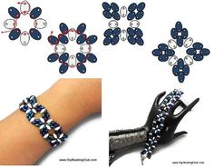 SuperDuo bracelet #Seed #Bead #Tutorials.    //////