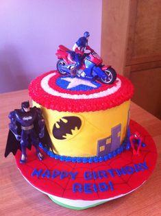 best service 7bb06 28c83 3rd Birthday Cakes, Superhero Cake, Delicious Desserts, Amazing Cakes,  Cupcake Cakes,