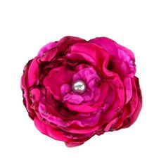 Gorgeous flower accessories https://www.etsy.com/listing/158903300/mixture-of-fuchsia-pink-and-red-flower #flower #hairaccessories #wedding #women #girl #prom