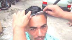 Corte masculino 2015 Com O Ninja Do Cabelo