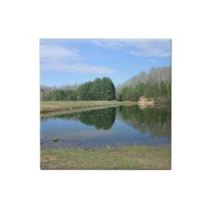 Blue Lake Ceramic Tile!  This tile represents an entire like of products!  Please check out my store!  http://www.zazzle.com/dww25921*
