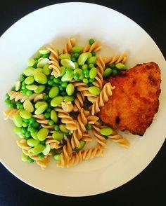 Kylling, med pasta og bønner/ærter