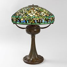 """""""Flowering Dogwood"""" Tiffany Lamp.  Available exclusively at Macklowe Gallery."""