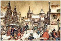 Anton Pieck was a Dutch painter and graphic artist. The work of Anton Pieck contains paintings in oil and watercolour, etchings. Anton Pieck, Dutch Painters, Dutch Artists, Arabian Nights, Book Illustration, Figure Painting, Contemporary Artists, Art History, Fairy Tales