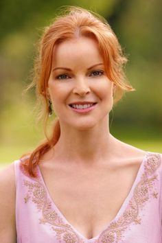 Marcia Cross trivia, pictures, links and merchandise. A page dedicated to the actress who played Bree Van De Kamp on the 'Desperate Housewives' TV series. Part of the TV and Movie Trivia Tribute. Marcia Cross, Desperate Housewives, Magenta, Bree Van De Kamp, Red Hair Don't Care, Scarlett, Hollywood Boulevard, Portraits, Beautiful Redhead