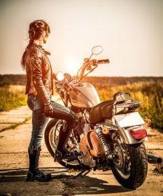 Motorcycle harley biker girl 00035