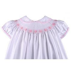 Vestido con braguita blanco/rosa