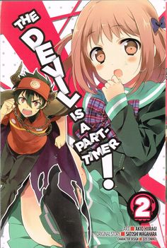 The Devil is a Part-timer! vol 2 (2015) by Satoshi Wagahara & Akio Hiiragi. Lucifer and Olba turn up, causing disasters. Maou does dialogue criticism, and Albert and Eme arrive and are confused. Finished 3rd June  2016, third read.