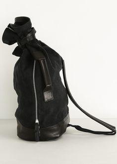 Y s by Yohji Yamamoto Bon Shoulder Bag (Black) Sports Bags 583d27a5f9db6
