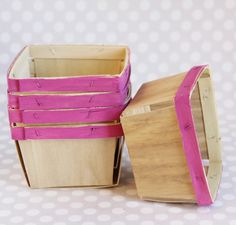 Painted Wooden Berry Baskets