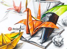 #기초디자인 #디자인스타 #입시미술 #건국대 #삼육대재현작 #종이학 #책 Drawings, Creative, Jelly, Illustration, Painting, Space, Design, Flowers, Art