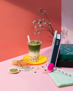 When I 'Dream Too Matcha' about you. 😳💭 We source our premium grade Matcha right from its origin in Uji, the small town near Kyoto and… Food Poster Design, Menu Design, Food Design, Food Safety Tips, Chocolates, Bubble Milk Tea, Photo Food, Drink Photo, Food Photography Styling