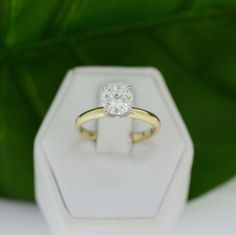 Yellow Gold & Platinum 1.20ct Diamond Engagement Ring with IGI Cert – MoneyMan Pawn