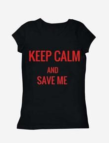 KEEP CALM ,kaos,keep.calm.and,save.me,t.shirt,,kaus