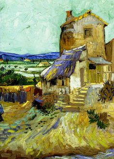Van Gogh..(detail) Old Mill, Sept 1888. Over the summer of 1888, Vincent wrote enthusiastically about how Provence had reawakened his lust for life.