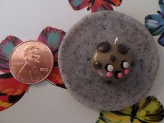Polymer Clay Cute Cookie Charm by solarstarcharms on Etsy https://www.etsy.com/listing/235141385/polymer-clay-cute-cookie-charm?ref=shop_home_active_1