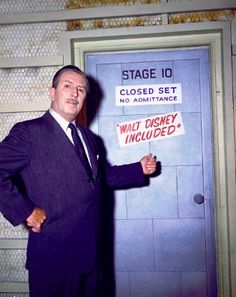 Closed Set, No Admittance. Walt Disney Included. hahha I love him.