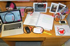 College Prep: Organize, Please... Desk while studying