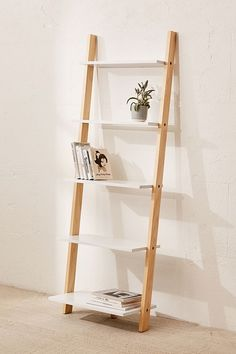 Leaning bookshelf - Home Decor Vinyl Record Storage Shelf, Wall Shelves, Cheap Home Decor, Diy Home Decor, Home Decorations, Leaning Bookshelf, Ladder Bookshelf Ikea, Leaning Shelf, Ladder Shelf Diy