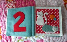 Fabric and felt baby book