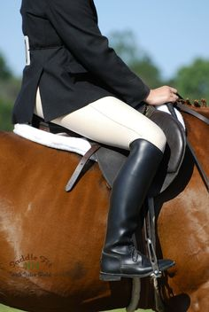 Your saddle should fit your horse but it should also fit you and your shape.  Riding in a saddle that doesn't fit you can cause instability and injuries to the rider.