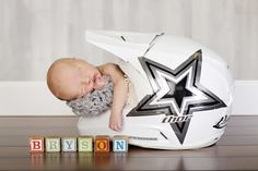 Daddy's motocross helmet