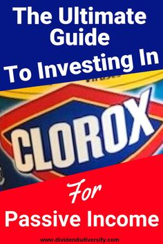 If you are a beginning investor, add companies you know to your investment portfolio. Clorox is an awesome dividend stock for investing money. Participate in the stock market. Earn passive income from dividends and start building your wealth like milliona Investment Tips, Investment Portfolio, Investment Quotes, Investing In Stocks, Investing Money, Stock Investing, Saving Money, Home Based Business, Online Business