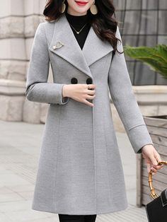 Mode Mantel, Langer Mantel, Fashion Outfits, Womens Fashion, Fashion Coat, Cheap Fashion, Ladies Fashion, Outerwear Women, Office Outfits