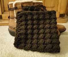 PDF Pattern Crochet Boot Cuff, Leg Warmers for teens or adults in Brown, Shell Pattern. $4.00, via Etsy.
