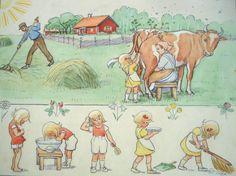 New Children Illustration Vintage Elsa Beskow Ideas Elsa Beskow, Edith Holden, John Bauer, Children's Book Illustration, Art For Kids, Art Children, Vintage Children, Childrens Books, Illustrators