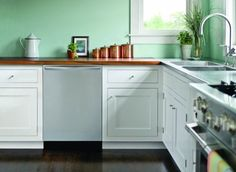 How to save the kitchen cabinets you have now- You can save thousands on a kitchen remodel by refurbishing your cabinets and it's the green way to go. To be fit for reuse, the cabinets must work with your layout, and the units must be plumb, square, and sturdy. Delamination, either from peeling veneers or plywood layers coming apart, is a sign that the cabinets are too far gone. Assuming the cabinets are structurally sound, they can be refinished or refaced. Here's how.