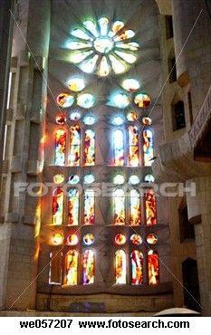 Segrada Familia temple Gaudi, Barcelona, Spain