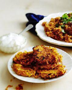 Raastetusta porkkanasta ja inkivääristä paistetaan ihanat fritterit. Helppo arkiruoka on nopea ja edullinen.