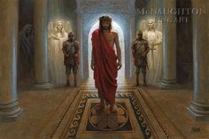 "I asked Jesus Christ, ""How much do you love me ?"" and Jesus Christ said, ""This much ."" then He stretched out His arms and died . Religious Pictures, Jesus Pictures, Religious Art, Jon Mcnaughton, Jesus Art, Biblical Art, King Of Kings, Christian Art, Holy Spirit"