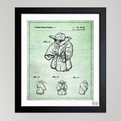 Yoda Schematic Poster.