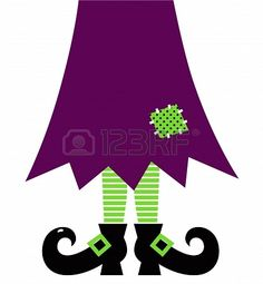 Stylized retro Witch legs. Vector illustration