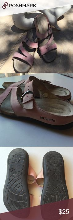 5c25697e49ac The Greatest Walking Shoes Handcrafted Mephisto suede leather sandals