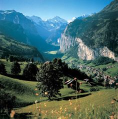 Wengen, Switzerland.  This is still one of the prettiest place I've ever been.